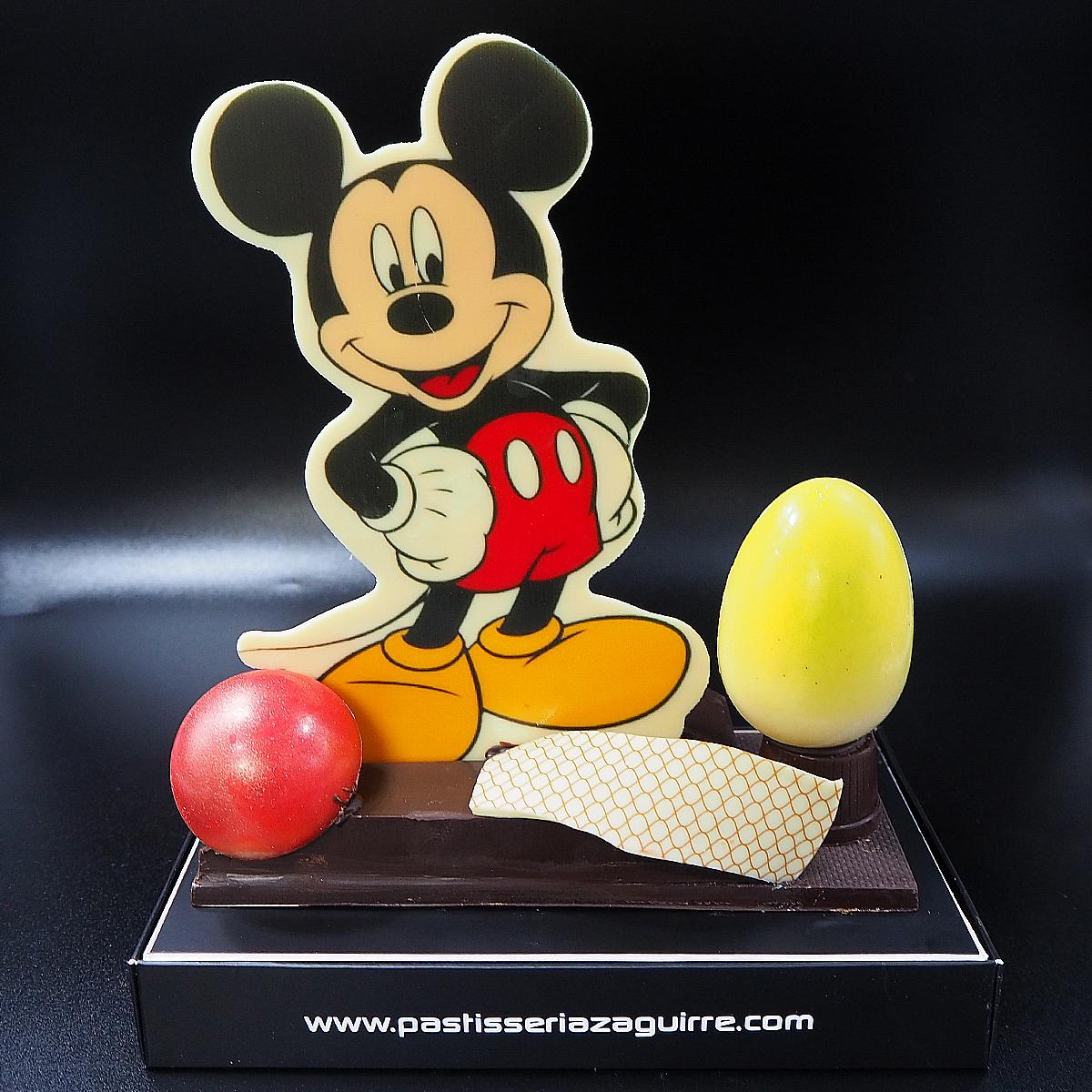 mona de pascua de chocolate mickey mouse
