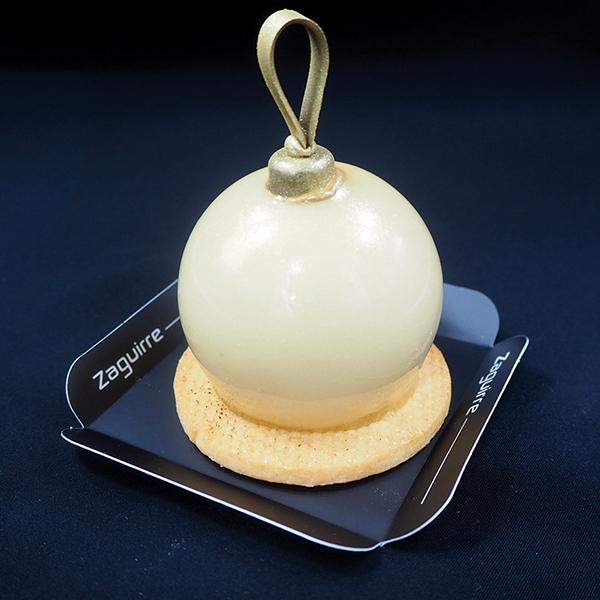 Bolas individuales de Navidad y fin de año: mousse de Dulcey con cremoso de Xixona y biscuit de almendras