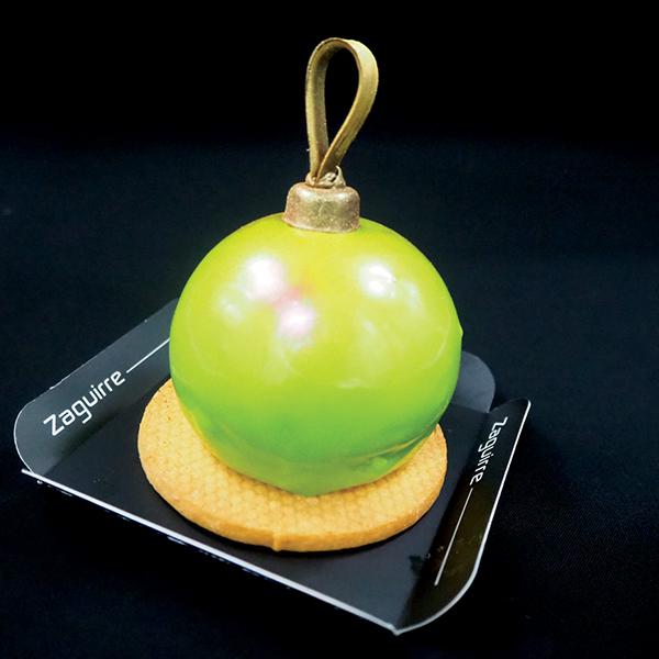 Bolas individuales de Navidad y fin de año: mousse de lima y chocolate