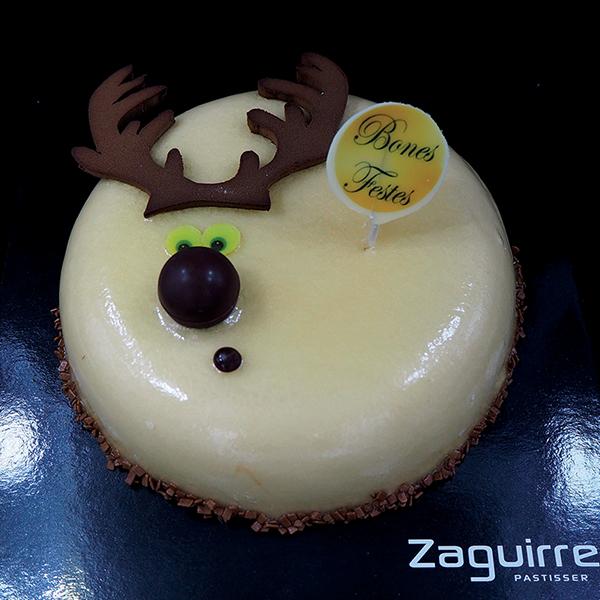 Tartes de Nadal i Cap d'Any: mousse de Dulcey amb cremós de Xixona i bescuit d'ametlles