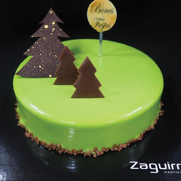 Tartas de Navidad y fin de año: mousse de lima y chocolate